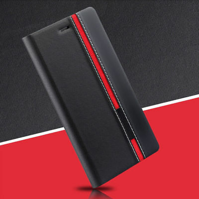 Flip Cover Stand Wallet Stitching Leather Case For Samsung J3/5  S4/5/6/7/8 Plus