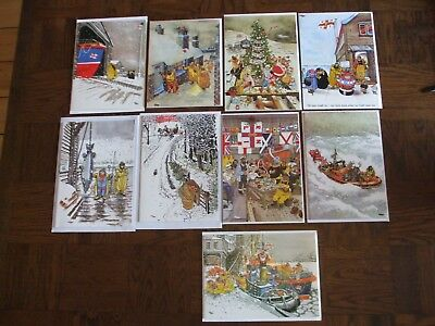 collection of 9 giles  christmas cards