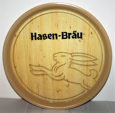 Hasen-Bräu Bier Beer Servier, Kellner Tablett Bar Kneipe Club Holzoptik NEU