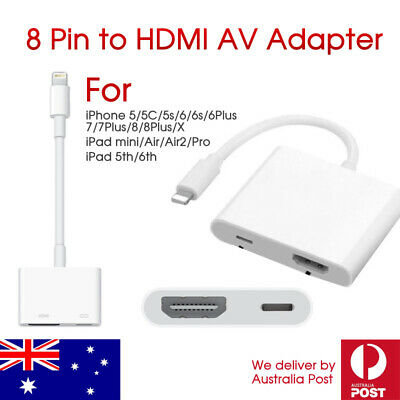 8Pin Lightning to HDMI Digital AV Adapter Cable For iPhone X 8 7 6 iPad Air Pro