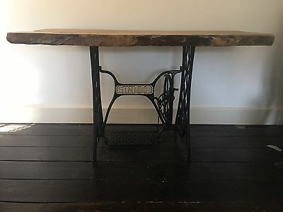 Rustic Cast Iron Singer Sewing Machine Table/Desk (Vintage, Industrial)