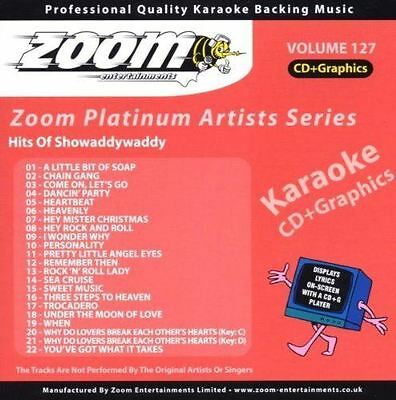 Zoom Karaoke Platinum Artists Series Volume 127 Hits Of Showaddywaddy CD + G New