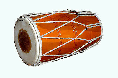 Indian Folk Musical Instrument Handmade Wooden Dholak Drum With A Rope MI 041