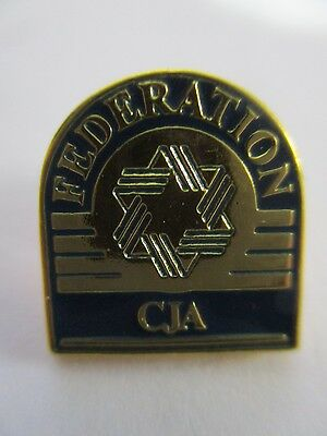 ZIONIST FEDERATION OF CANADA, A  METAL  PIN  BADGE, 70's.  cs3285