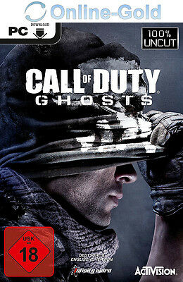 Call of Duty Ghosts Key - COD 10 STEAM Download Code - PC Game [EU/DE]