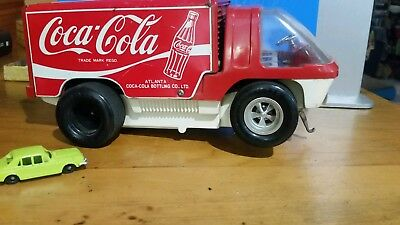 coke truck tin toy Japanese battery operated
