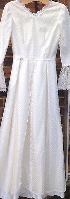Fabulous Vintage Wedding Dress Satin And Lace Stunning Vintage Gown
