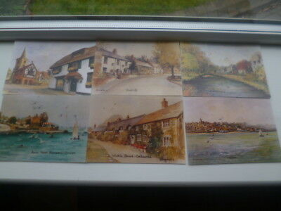 ISLE OF WIGHT 6 No. A/S POSTCARDS HEATHER SIMMONDS RMS GREAT ART FINE LOOK