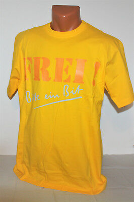 "Bitburger Beer Bier ""Frei!"" T-Shirt Shirt Herren Man Men orange Gr. M NEU OVP"