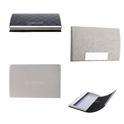 Pocket Business Card Credict Card ID Card Holder PU Leather&Stainless Steel