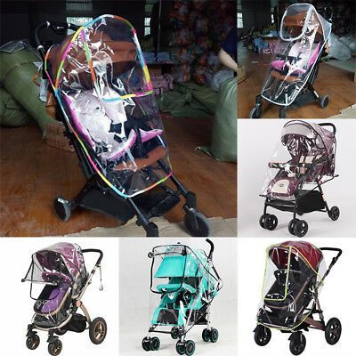 Universal Fold Transparent Baby Stroller Rain-proof Wind-proof Cover Wind Shield