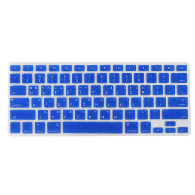 """US / Korean Silicone Keyboard Skin Cover for Apple Macbook Pro 13"""" 15"""" Blue"""