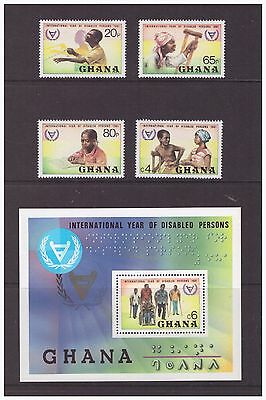 Ghana 1982 International Year for Disabled Persons mint MNH set stamps