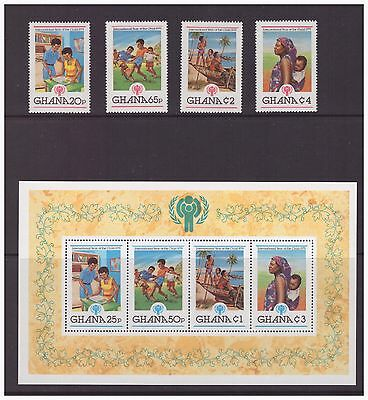 Ghana 1980 Cultures, Ethnicities,Year of the Child mint MNH set stamps