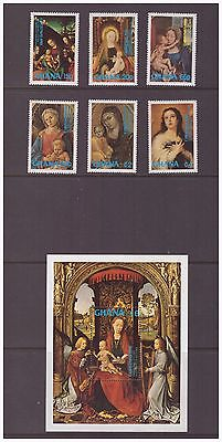 Ghana 1981 Art Christmas Paintings Religion mint MNH set stamps