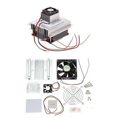 TEC1-12706 Thermoelectric Peltier Refrigeration Cooling System DIY Kit Fan J2Y4
