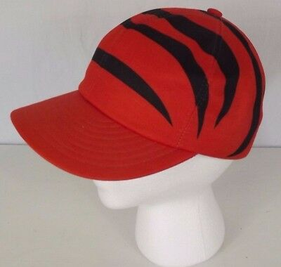 e77dabc676e62 Vintage Cincinnati Bengals Snapback Trucker Hat Cap Tiger Stipe  Orange Black NFL