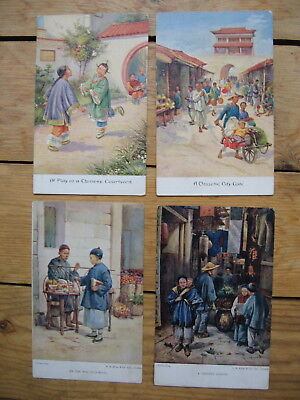 Chinese scenes, series 5 by A.B.Shaw & co ltd 4 postcards unwritten.As one LOT