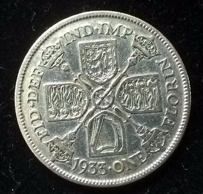 1933 Silver Florin George V Two Shilling 11.3 Grams
