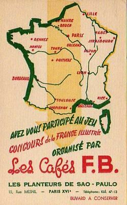 Buvard 105644 Cafe Fb Carte De France-Nov
