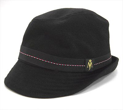 Michael Jackson Mj Tag Logo Blk Wool Fedora Hat Official Product Licensed New