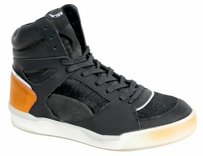 9caeb7a55119b3 Puma McQ Alexander McQueen Move Mid Womens Trainers Black Leather 359350 01  D34