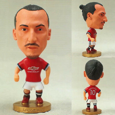 2017 Zlatan Ibrahimovic Doll Mini Figure Bobble Head 2.5' Premier League Soccer