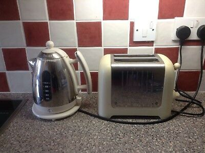 Dualit Cream Coloured Toaster And Kettle