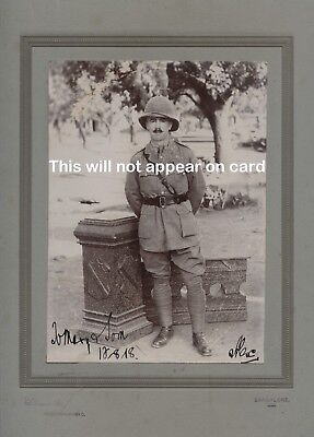 Large mounted photo of WWI officer, General Service Corps, Bangalore, India 1918