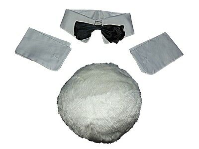 Ex Playboy 4 Pc Bunny Girl Accessory Collar Cuffs Bow Tie Fluffy Tail Hen Party