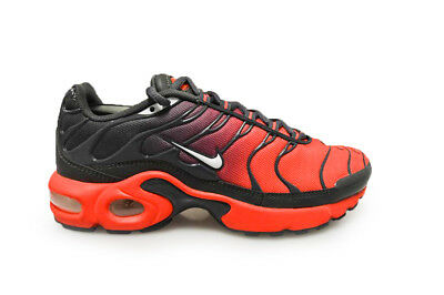 d4cfe85a79 JUNIORS NIKE AIR Max Plus GS - 655020 606 - Red Grey White Trainers ...