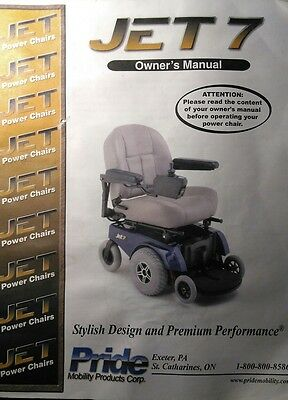 JET 7 Power Chair Scooter Assisted Mobility Wheel Operation & Maintenance Manual