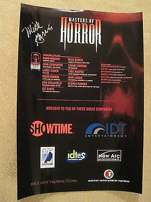 Masters of Horror advertising mini poster – SIGNED by Mick Garris