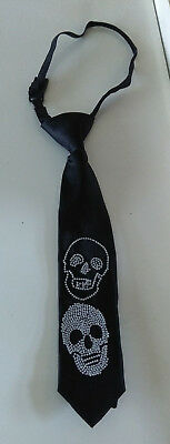 Boys Black Tie With Silver Skull Detail From H&m