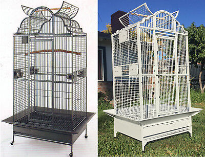 """63/"""" Large Wrought Iron Open Dome Play Top Parrot Macaw Cockatoos Amazon Cage 240"""