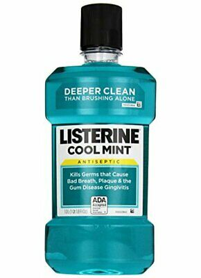 Listerine Antiseptic Mouthwash, Cool Mint, 33.8 Ounce Bottle