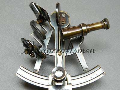 Nautical Vintage Solid Brass Antique Sextant Astrolable Sextant 5''