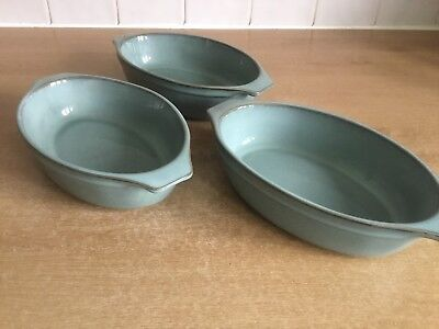 Denby Regency Green 3 X Small Gratin Dishes