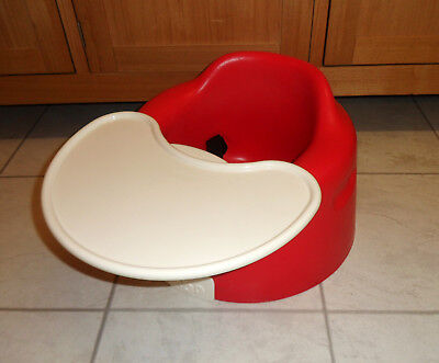Red Bumbo Baby Chair Seat With Harness & Snack/play Tray