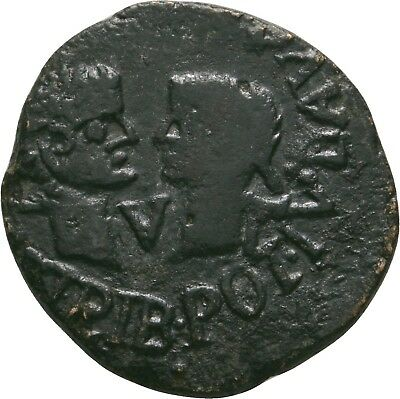 Lanz Spain Tarraco As Tiberius Livia Drusus Rare Bronze Roman §ve1827