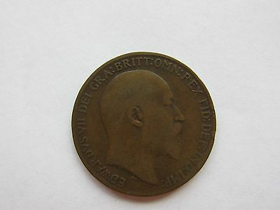 1908 - KING EDWARD VII ONE PENNY 1d - COIN