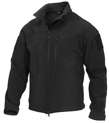 65440f21e97 Tactical Softshell Uniform Jacket CCW Stealth Ops Black Waterproof Rothco  3577