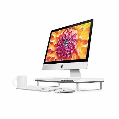 Satechi F3 Smart Monitor Stand with Four USB 3.0 Ports and Headphone / Microp...