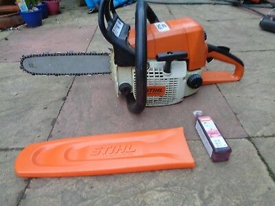 """Stihl Ms 025  Chainsaw Just Serviced 16"""" Bar And Chain Works Perfect"""