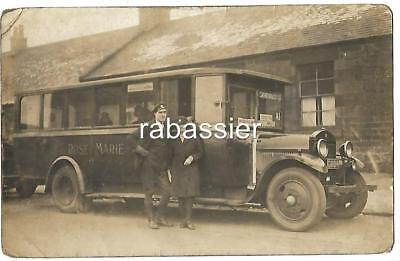 POSTCARD - MOTOR BUS GM 814 - WISHAW UDDINGSTON SHOTTS - c1925 ROSE MARIE