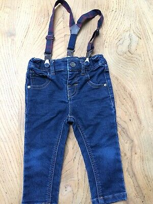 Immaculate Next Boys Jeans And Braces 9-12months