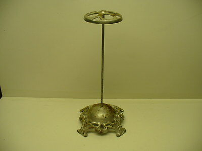 """Vintage / Antique Cast Iron Victorian  Hat Stand Display Ornate Base 12"""" Tall"""