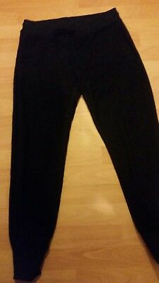 Ladies Converse Black Sweat Pant With Metallic Fleck Medium
