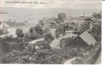 Jersey Lower Gardens Somerville Hotel 1914