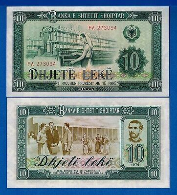 Albania P-43 10 Leke Year 1976 Uncirculated